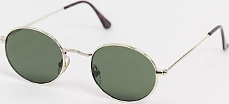 Topman Goldene Sonnenbrille mit runden Gläsern