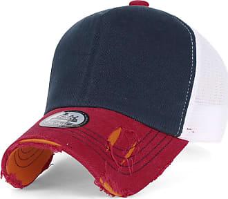 Ililily Black Vintage Distressed Mesh Snapback Blank Trucker Hat Baseball Cap, Navy, Medium