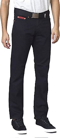 Duke London Mens Bedford Cord Enzyme Washed Jeans in Black (Mario) in 34W x 32L