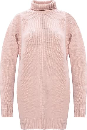 Lanvin Cashmere Turtleneck Sweater Womens Pink