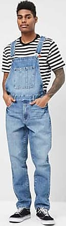 21 Men Faded Denim Overalls at Forever 21 Denim Washed