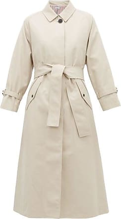 Thom Browne Belted Twill Trench Coat - Womens - Beige