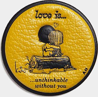 Anya Hindmarch Love Is Sticker Capra in Mustard