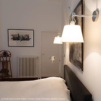 Artemide TOLOMEO-Applique Orientable Halogène Ø32cm bras aluminium poli et abat-jour ivoire Artemide - designé par Michele De Lucchi & Giancarlo Fassina