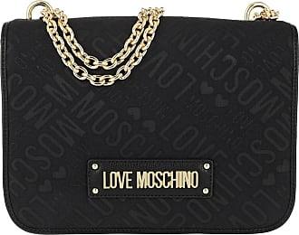 Love Moschino Borsa Jacquard Shoulder Bag Chain Nero