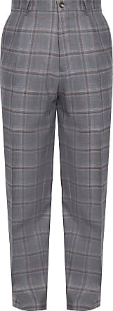 Etro Wool Trousers Mens Grey