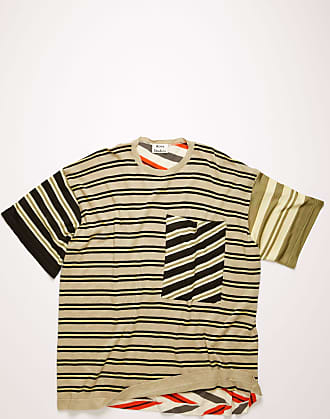 Acne Studios FN-WN-KNIT000210 Beige/multi Multi-stripe t-shirt