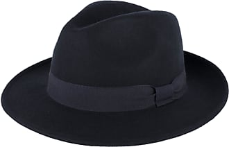 Hat To Socks Wool Trilby Fedora Hat Handmade in Italy (Navy, S)