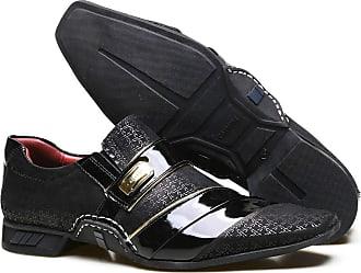 Calvest Sapato Social em Couro Nobuck com Textura Viena e Costuras Manuais Calvest - ZM3660C997-001 Preto-36