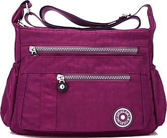 GFM Womens Nylon Cross Body Shoulder Bag (88)(Style 1-6046-MGJMN)