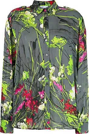 Blumarine Camisa com estampa floral - Cinza