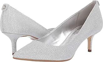 30b6c9dc2b Michael Kors MK-Flex Kitten Pump (Silver) Womens 1-2 inch heel