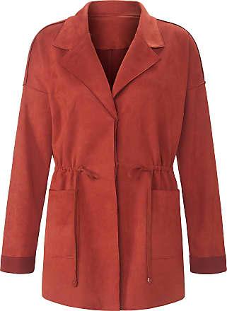 Emilia Lay Faux suede jacket drop shoulder Emilia Lay orange