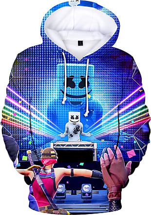 EmilyLe OLIPHEE Mens Fashion 3D Prints Hoodies DJ Inspired Graphic Pullover Jumpers Casual with Pockets Rainbow 4XL