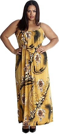 Nouvelle Collection Floral Print Frill Maxi Dress Mustard 20