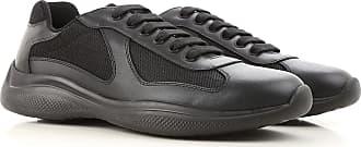 ead3492b5c98d3 Prada Sneakers for Men On Sale, Black, Leather, 2017, 39 40