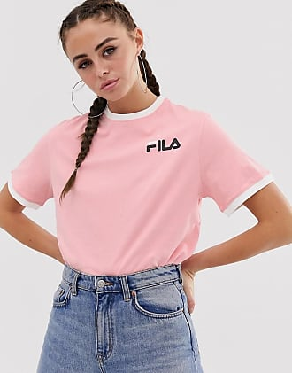 Fila relaxed ringer t-shirt with chest logo - Pink