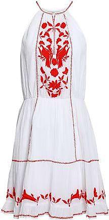 Joie Joie Woman Embroidered Cotton-gauze Mini Dress White Size XS