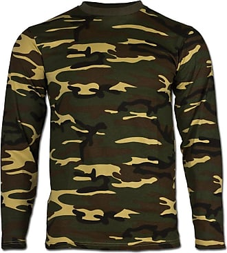 Mil-Tec Woodland Camouflage Pattern Long Sleeve T-Shirt (Large)