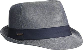 dad05055c04192 Van Heusen Chambray Mens Fedora Hat with Grosgrain Headband, Black Med/Large