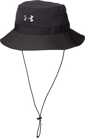 Under Armour Mens Ua ArmourVent Warrior Bucket Hat, Black (001)/Metallic Ore, One Size