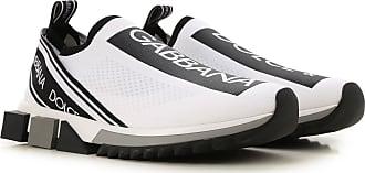 Dolce & Gabbana Slip on Sneakers for Men On Sale, White, Textile, 2019, 6.5 7 8 9