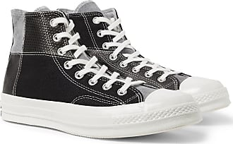 Converse 1970s Chuck Taylor All Star Patchwork Leather, Corduroy And Twill High-top Sneakers - Black