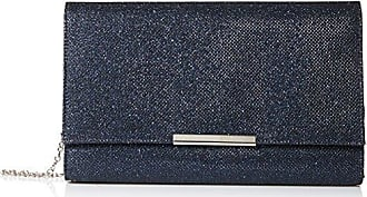 Jessica McClintock Womens Nora Large Envelope Glitter Clutch, Navy, One Size