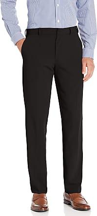 Van Heusen Mens 4-Way Stretch Temp Control Straight Fit Dress Pant, Black, 34W x 30L