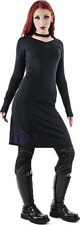 3Elfen Gothic Clothes Woman Skirt Black with Wind Pixie in Purple, XL