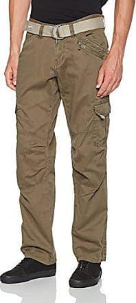 6001044ce7105 Timezone BenitoTZ cargo pants incl. belt, Pantalon Cargo Homme, Marron  (Dark Earth