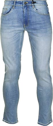 Firetrap Mens Skinny Jeans Tonal Stitching Denim Trousers Casual Pants Bottoms Bleach Wash 28 L30