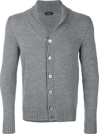 Zanone V neck cardigan - Grey