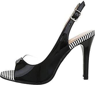 Damen Schuhe HIGH HEELS PUMPS Schwarz Gr 40 Sandalen