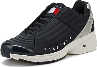 5c2396b6e1545 Tommy Hilfiger Tommy Jeans Heritage Quilted Panel Mens Midnight Trainers-UK  10   EU 44