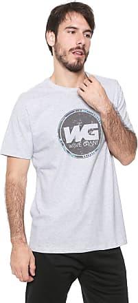 Wave Giant Camiseta WG Geometric Logo Cinza