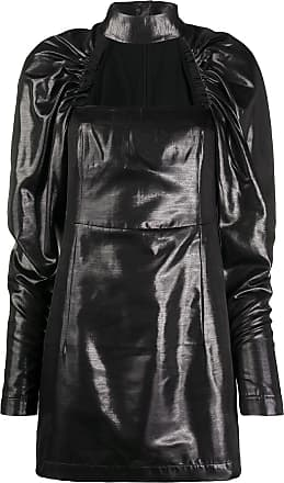 Rotate Vestido com franzido nas mangas - Preto