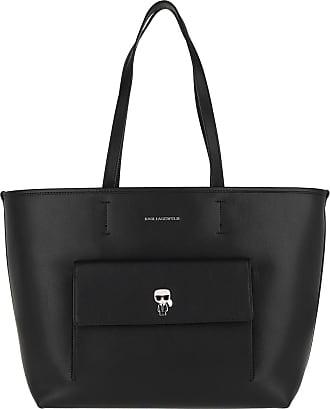Karl Lagerfeld Ikonik Metal Pin Tote Black Shopper schwarz