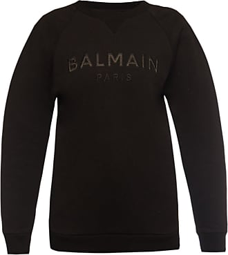 Balmain Sweatshirt With Logo Womens Black