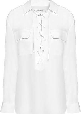 5260026bbc238c Equipment Equipment Woman Lace-up Silk Crepe De Chine Blouse White Size L