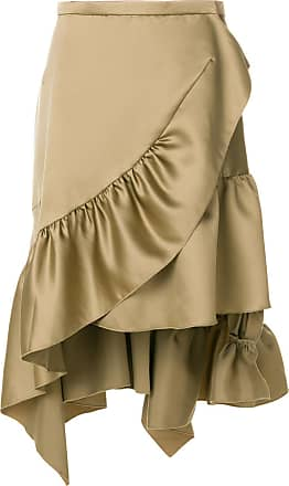 Koché asymmetric frill skirt - Verde