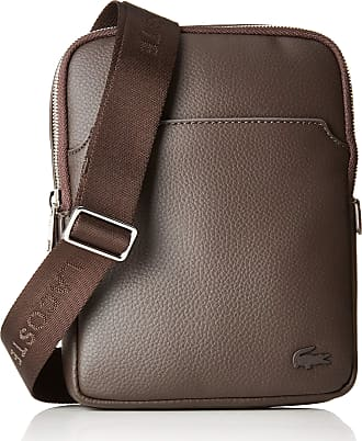 00451ad6e49ced Lacoste Mens NH1740GL Shoulder Bag Brown Brown (Chocolate Brown 047) One  Size