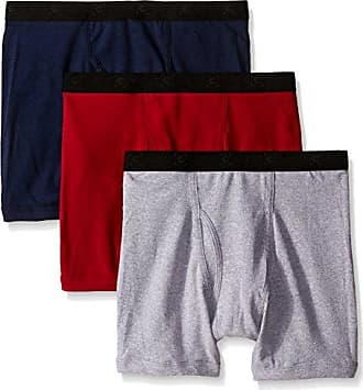 Gold Toe Mens 3-Pack Cotton Boxer Brief, Brick/Grey/Navy, X-Large