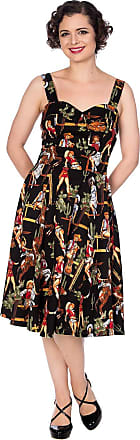Banned Retro Howdy Partner Cowgirl 50s Style Dress - UK 16 (XL) Black
