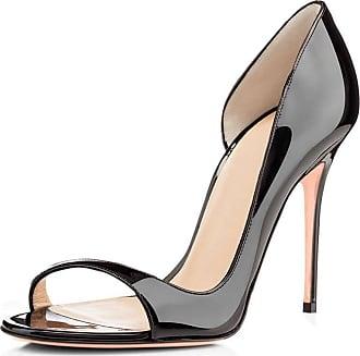 EDEFS Womens Peep Toe Sandals DOrsay High Heels Party Evening Dress Shoes Black EU37