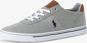 Polo Ralph Lauren Herren Sneaker mit Leder-Anteil grau