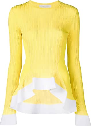 Esteban Cortazar Blusa de tricô com drapeado - Amarelo