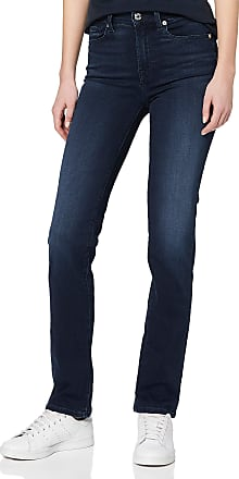 7 For All Mankind Womens Straight Jeans, Blue (Dark Blue Uf), W27/L33 (Size: 27)