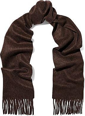 N.Peal N.peal Woman Fringe-trimmed Cashmere Scarf Chocolate Size