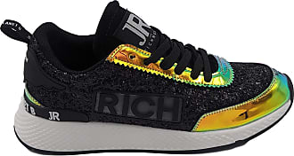 John Richmond Black Sneakers with Sequins Black Size: 6 UK